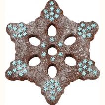 Realizazzione torta con lo stampo a forma di fiocco di neve della Wilton
