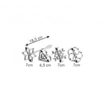 Dimensioni forma frittelle 4 pz delicia Tescoma