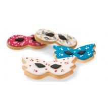 realizzazioni biscotti a forma di maschera di carnevale