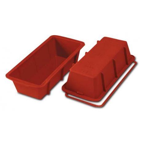STAMPO PLUM CAKE CM.24x10 H.6,5 LT.1,5 SILICONE ROSSO SFT326