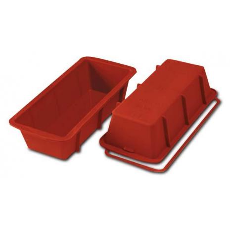 STAMPO PLUM CAKE CM.30x10 H.7 LT.1,7 SILICONE ROSSO SFT331