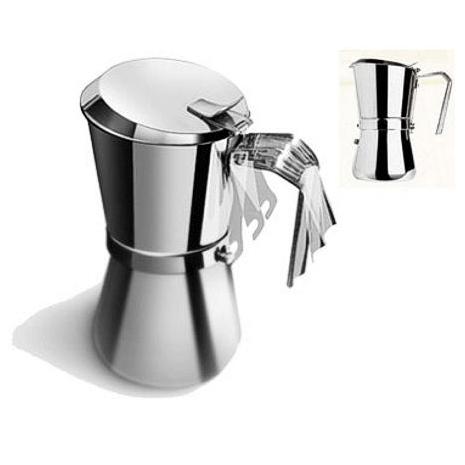 CAFFETTIERA GIANNINA TZ. 6/3 INOX INDUZIONE