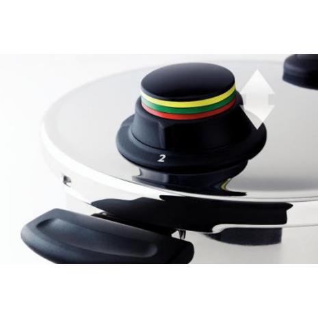 valvola con indicatore colorato pentola fissler vitavit design per controllo preciso della cottura