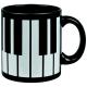 MUG PIANOFORTE NERO ML.330